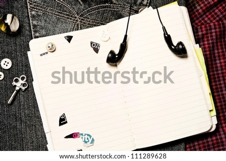 pocket book for personal entries - stock photo