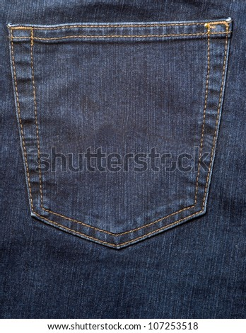 pocket jeans background - stock photo