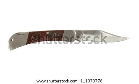 Pocket knife isolated on a white background - stock photo