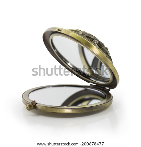 Pocket Mirror isolated on white