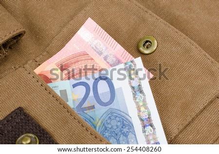 pocket money - stock photo