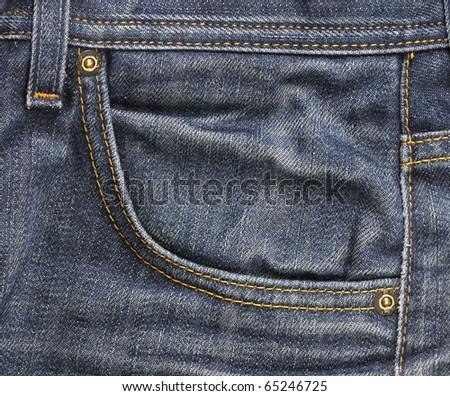 pocket of jeans - stock photo