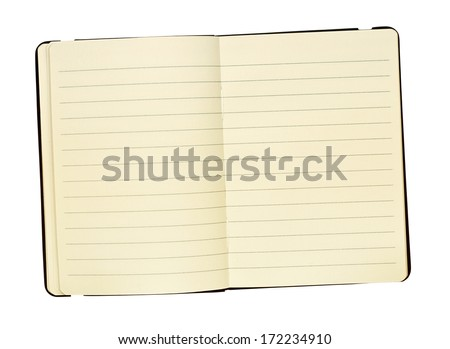 Pocket sized Leather bound personal journal for keeping a hand written record of memories, great for magazine layouts. - stock photo