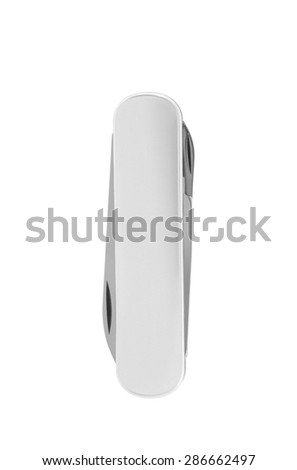 Pocket swiss knife isolated on white