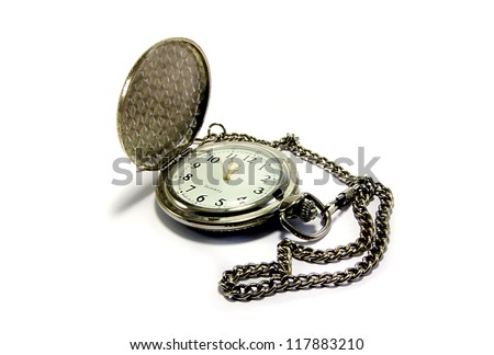 Pocket watch on a chain - stock photo