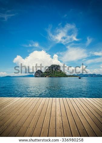 Poda beach in Krabi Thailand - stock photo