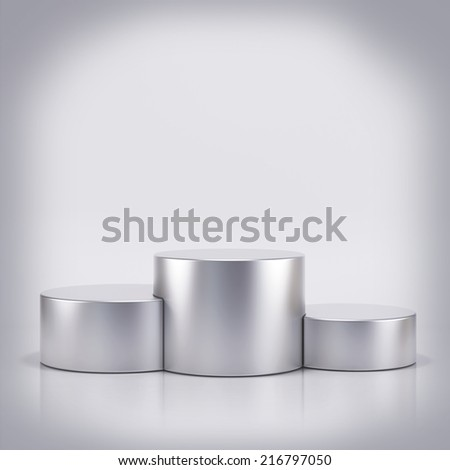 Podium - stock photo