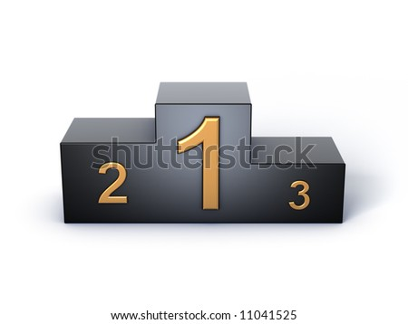podium 3d model on white background
