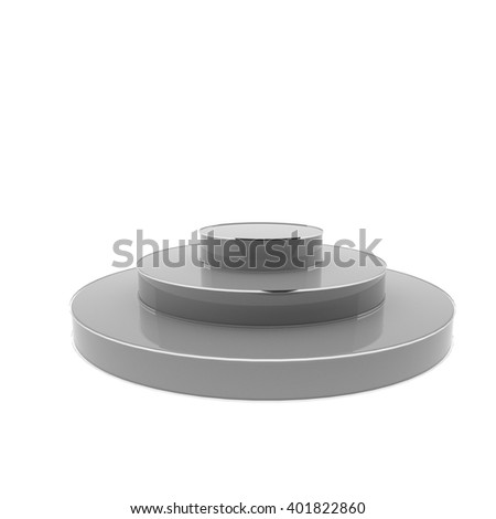 Podium isolated over white background, 3d rendering - stock photo