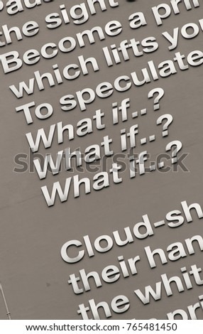 Poet laureate andrew motions poem what stock photo royalty free poet laureate andrew motions poem what if on the side of the owen building at thecheapjerseys Choice Image