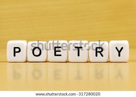 POETRY word on blocks - stock photo