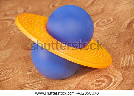 pogoball special adaptation for fitness and exercise on the carpet - stock photo