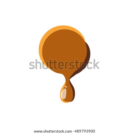 Point from caramel icon isolated on white background. Punctuation symbol