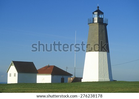 Point Judith Lighthouse at Narragansett, Rhode Island - stock photo