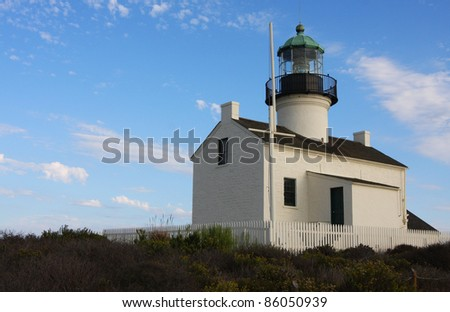 Point Loma Light house in San Diego California