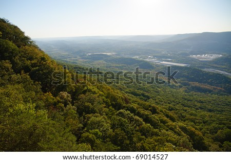 Point Park overlook on Lookout Mountain at Chickamauga and Chattanooga National Military Park - stock photo