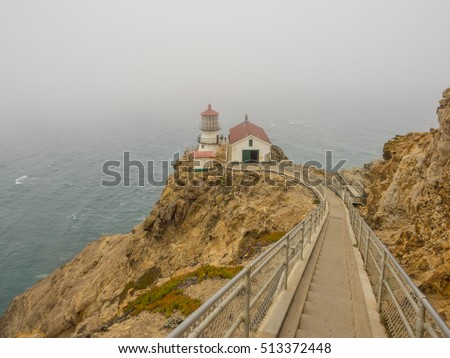 Point Reyes Lighthouse is a lighthouse in the Gulf of the Farallones on Point Reyes in Point Reyes National Seashore, located in Marin County, California, United States.