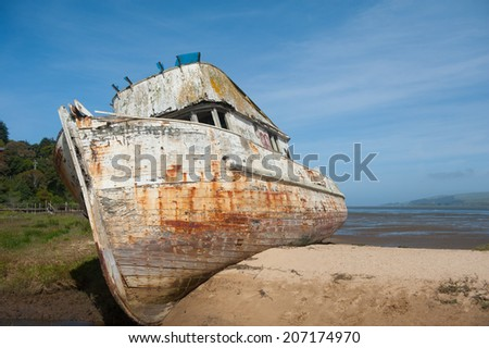 Point Reyes shipwreck in Tomales Bay - stock photo