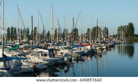 Point Roberts Marina Resort USA August 2016. Sail boats and yachts at Point Roberts Marina Resort.WA ,USA