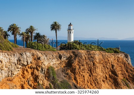 Point Vicente in Rancho Palos Verdes, Los Angeles, California. - stock photo