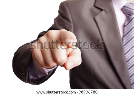pointing a finger - stock photo