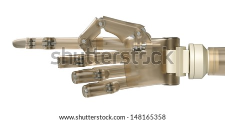 Pointing Robot Hand - stock photo