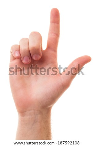 Pointing up - stock photo