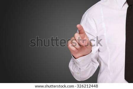 points finger - stock photo