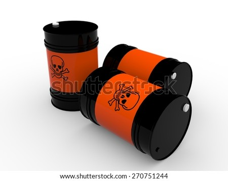 poison drums - stock photo