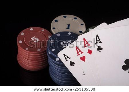 poker aces - stock photo