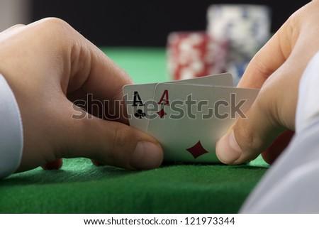 Poker Aces pair - stock photo
