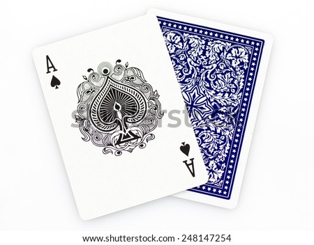 Poker cards. - stock photo