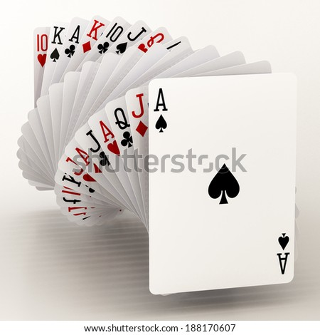 poker cards on a white background