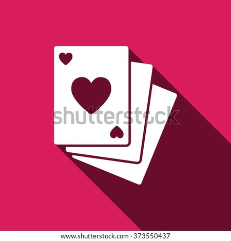 Poker cards sign icon