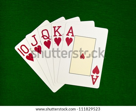 Poker. Combination Royal Flush