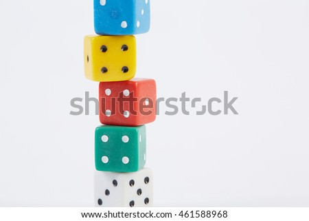 Poker cube on a white background