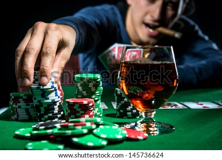Poker player  - stock photo