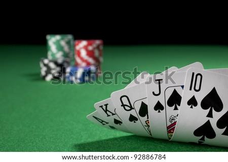 Poker, royal flush - stock photo