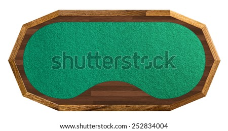 poker table isolated on white background , saved clipping path - stock photo