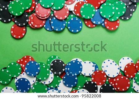 Poker. The game plot. - stock photo