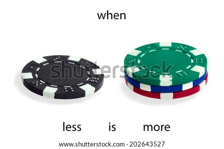 Poker. When less is more. Saying.