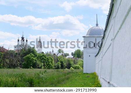 Pokrovsky Monastery in Suzdal, Russia - stock photo