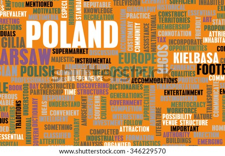 Poland as a Country Abstract Art Concept