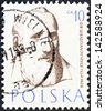 "POLAND - CIRCA 1957: A stamp printed in Poland from the ""Polish Doctors"" issue shows philosopher Dr. Sebastian Petrycy, circa 1957. - stock photo"