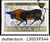 "POLAND - CIRCA 1976: A stamp printed in Poland shows Corinthian Vase Paintings (7th century B.C.), with the same inscription, from the series ""Stamp Day, 1976"", circa 1976 - stock photo"