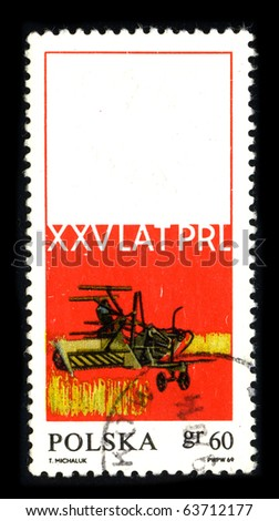 POLAND - CIRCA 1969: A stamp printed in Poland shows image of the dedicated to the Agriculture Poland circa 1969.