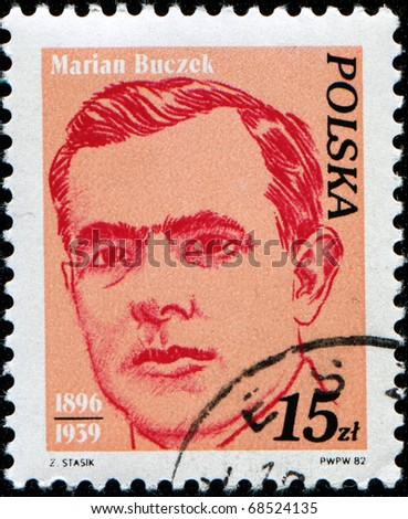 POLAND - CIRCA 19822: A stamp printed in Poland shows Marian Buczek, circa 1982