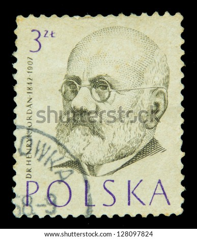POLAND - CIRCA 1959: A stamp printed in Poland shows physician series, circa 1959 - stock photo