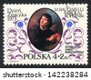 POLAND  - CIRCA 1976: A stamp printed in POLAND shows portrait of astronomer Nicolaus Copernicus and Day Stamp 1973 , circa 1976 - stock photo