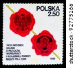 Poland - CIRCA 1980: A stamp printed in the Poland devoted 35 years friendship treaty cooperation and mutual aid between the USSR and Poland, circa 1980 - stock photo
